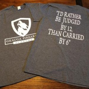 I'd Rather Be Judged by 12, Than Carried  By 6